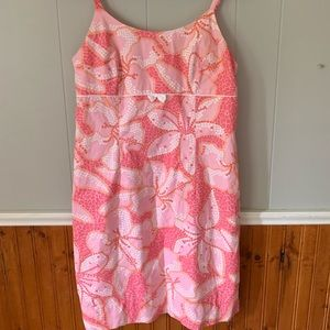 Lilly Pulitzer Women's 8 Sun Dress Pink Floral